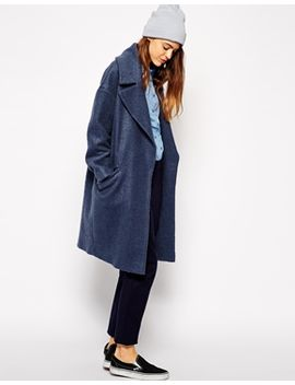 asos-slouchy-coat-in-texture by asos-collection