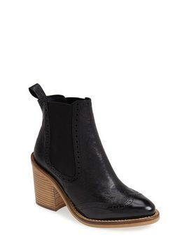 maine-brogue-chelsea-ankle-bootie by topshop