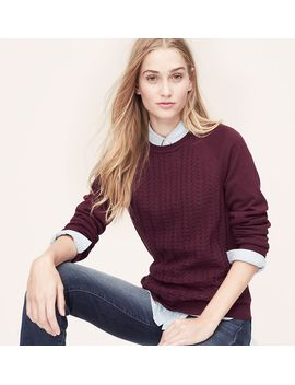 stitchblock-sweatshirt by loft