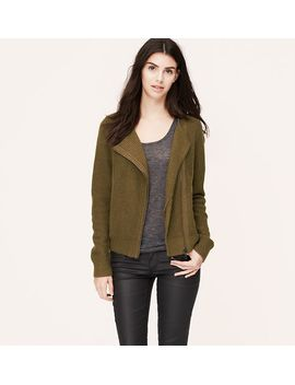 textured-moto-sweater by loft