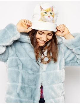 asos-printed-cat-beanie by asos-collection