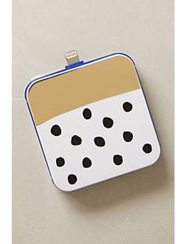 gold-bar-dotted-iphone-5-backup-battery by anthropologie