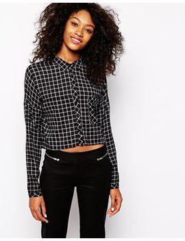 vero-moda-grid-print-pocket-shirt by vero-moda