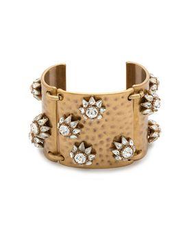 floral-shield-cuff-bracelet by jcrew
