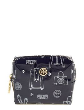 tiny-brigitte-coated-cotton-cosmetics-case by tory-burch