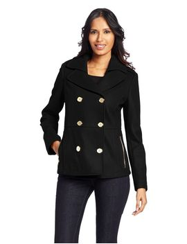 kenneth-cole-womens-zipper-pocket-pea-coat by kenneth-cole