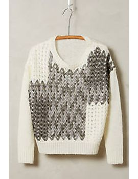 ribbon-weave-pullover by anthropologie
