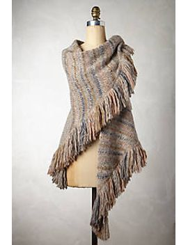 knit-fringe-cape by anthropologie