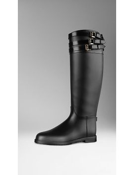 belted-equestrian-rain-boots by burberry