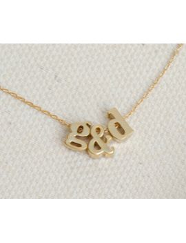 three-initial-necklace,-gold-personalized-jewelry,-monogram-necklace,--tiny-letter-necklace,-lowercase-initial-charm,-tiny-name-necklace by silverlotusdesigns