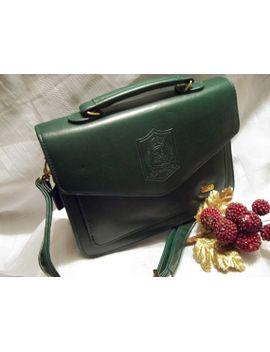 mint-vintage-dark-hunter-green-leather-doctor-bag-shoulder-bag---kelly-bag---womens by vintagelyvoguedejavu