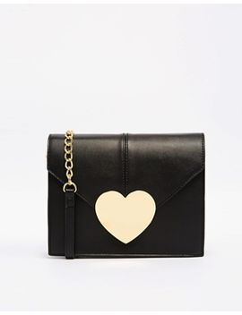 asos-love-heart-cross-body-bag-with-chain-detail by asos-collection
