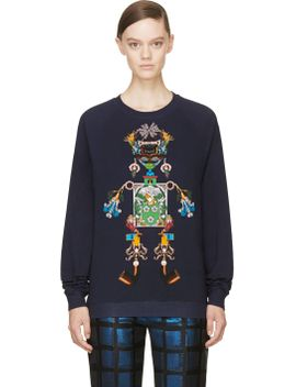 navy-tikki-man-sweatshirt by mary-katrantzou