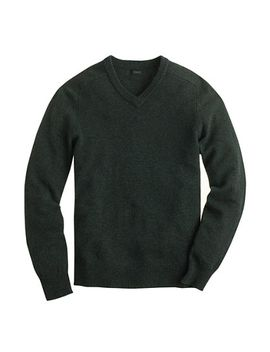 lambswool-v-neck-sweater by jcrew