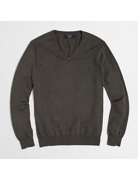 factory-cotton-cashmere-v-neck-sweater by jcrew
