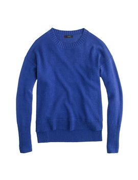 high-low-crewneck-sweater by jcrew