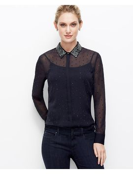 embellished-chiffon-blouse by ann-taylor