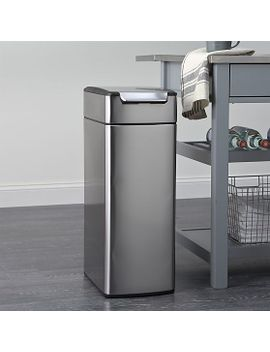 simplehuman-®-40-liter_105-gallon-slim-touch-bar-trash-can by crate&barrel