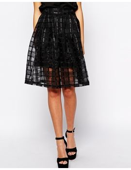 fashion-union-midi-skirt-in-check-mesh by fashion-union