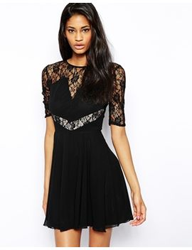 elise-ryan-skater-dress-with-lace-inserts by elise-ryan