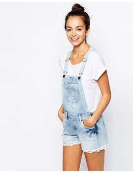 new-look-crochet-trim-dungaree by new-look