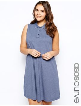 asos-curve-pique-polo-dress by asos-curve