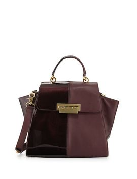 eartha-contrast-textured-flap-top-satchel-bag,-vineyard by zac-zac-posen