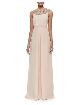 niki-beaded-silk-halter-gown by raoul