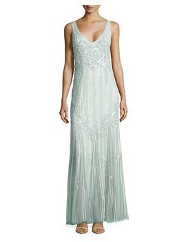 deco-floral-sequined-gown,-celadon by theia