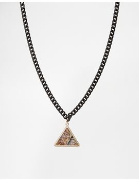 asos-triangle-chain-choker-necklace by asos-collection