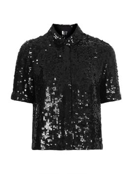 sequin-shirt by topshop