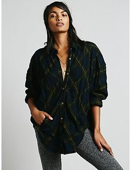 oversized-and-plaid-boyfriend-shirt by free-people