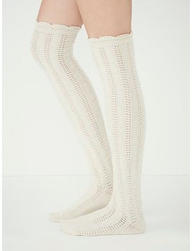 fray-pointelle-over-the-knee-sock by free-people