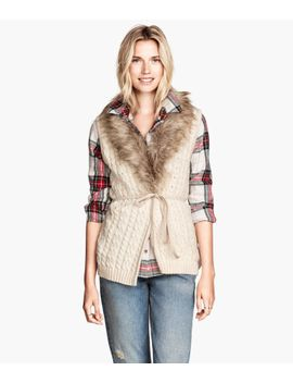 cable-knit-vest by h&m