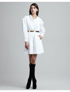 folded-sleeve-shirtdress by maison-rabih-kayrouz
