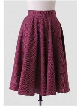 maryanne-polka-dot-skirt-in-burgundy by ruche