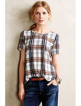 draped-plaid-top by maeve