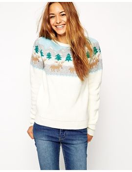 asos-holidays-sweater-with-rudolph-winter-scene by asos-collection