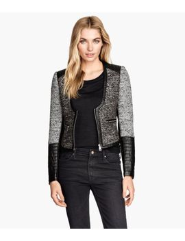 textured-weave-jacket by h&m