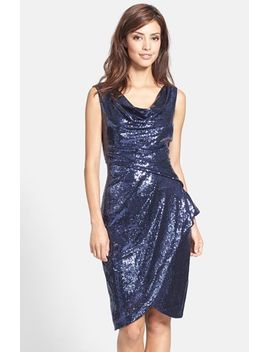 ruched-sequin-sheath-dress by alex-evenings