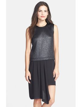 asymmetrical-mixed-media-shift-dress by bcbgmaxazria