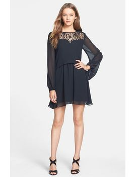 lace-yoke-split-back-popover-dress by bcbgeneration