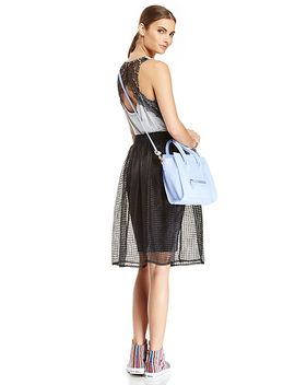 gridline-organza-midi-skirt by dl