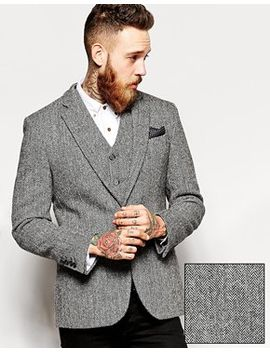 asos-slim-fit-blazer-in-harris-tweed-fabric by asos