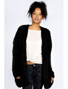 danika-sherpa-chuck-on-coat by boohoo