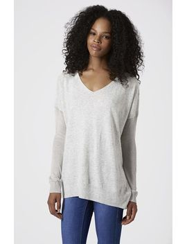 asymmetrical-v-neck-sweater by topshop