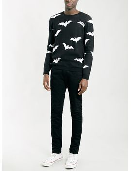 black-bat-pattern-sweater by topman