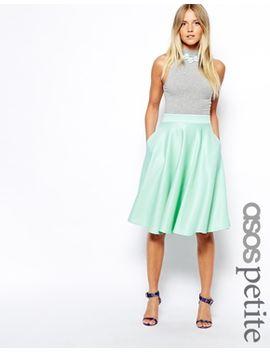 asos-petite-exclusive-scuba-midi-skirt by asos-petite