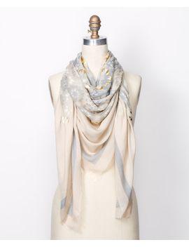 foil-medallion-print-scarf by ann-taylor