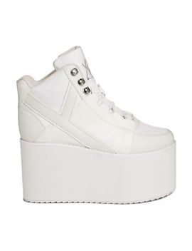 yru-qozmo-hi-white-mega-platform-shoes by yru
